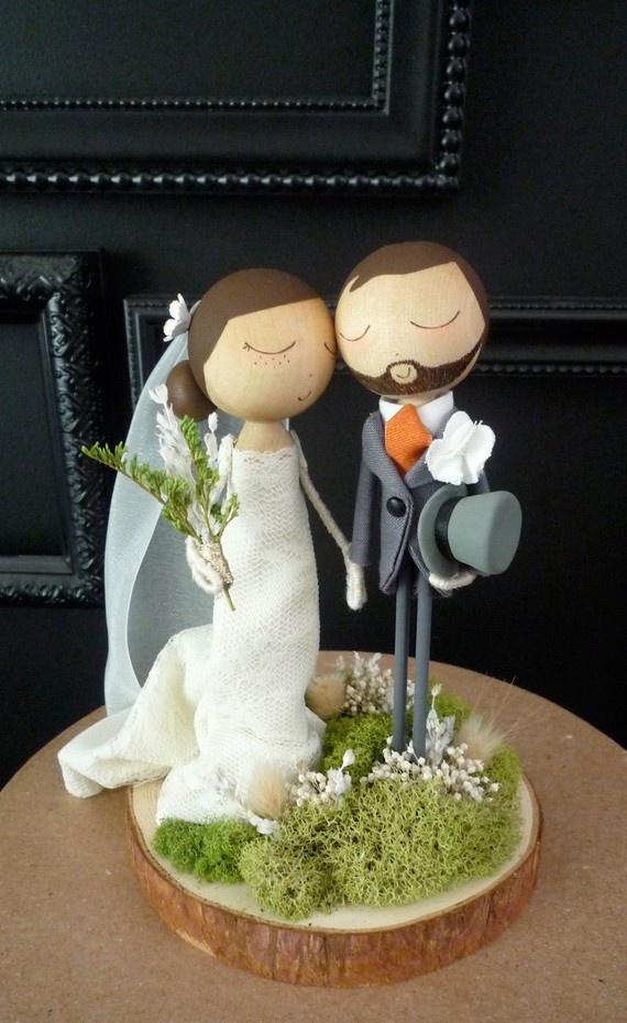 Toppers para tartas de boda