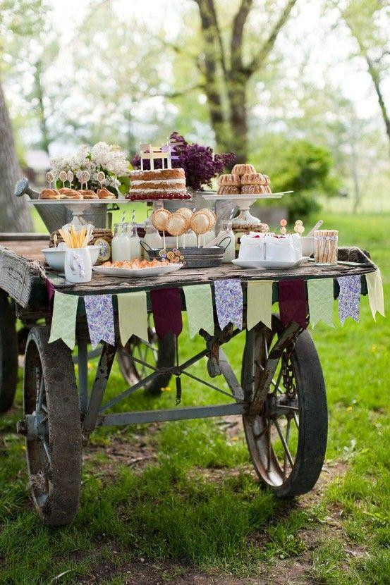 buffet rustico chic