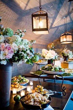 Buffet rustico chic para bodas