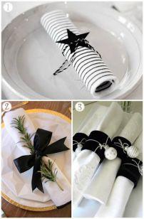 decoración servilletas navidad