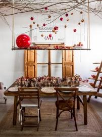 decoración navidad mesas