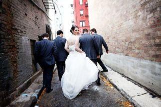 boda urbana amigos